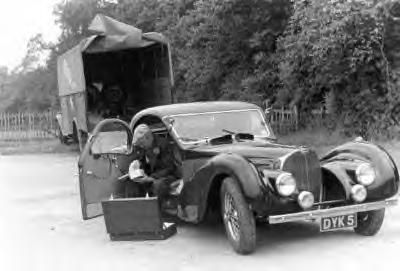 The Good Doctor Carr with his Bugatti before putting it away for 50-years