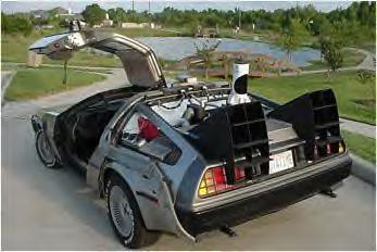 "DeLorean used in the feature film, ""Back to the Future"""