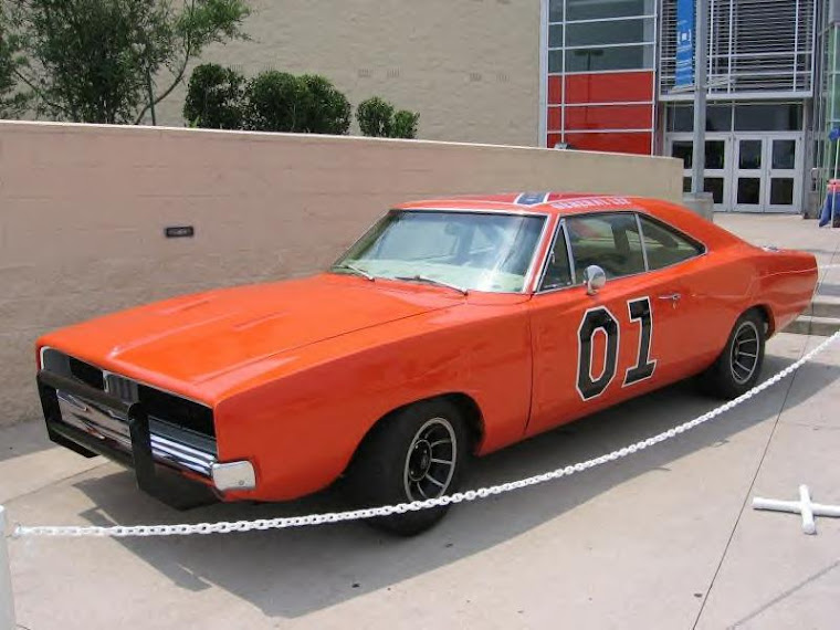 "The General Lee from the TV show, ""The Dukes of Hazzard"""