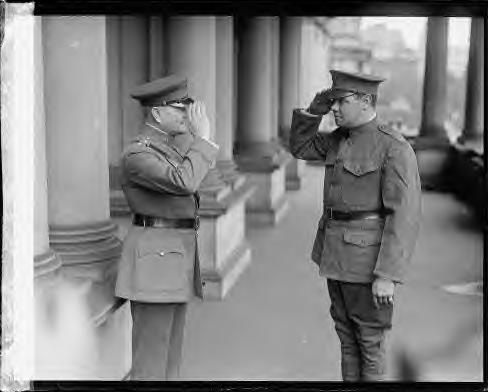 General George Pershing & Pvt. Babe Ruth 1924