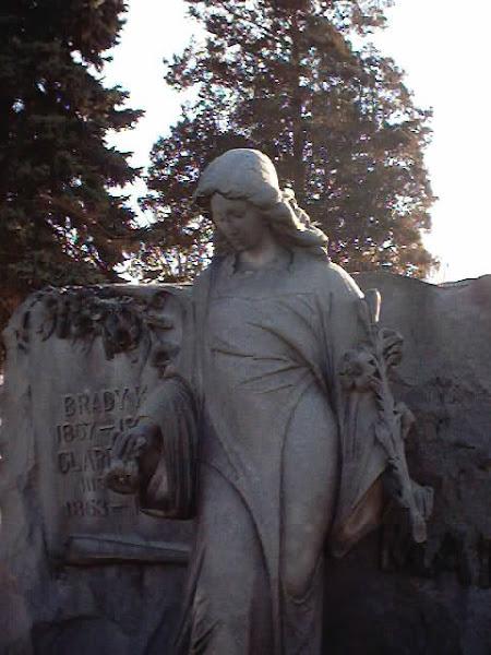 The life-size statue of Clarissa Martin