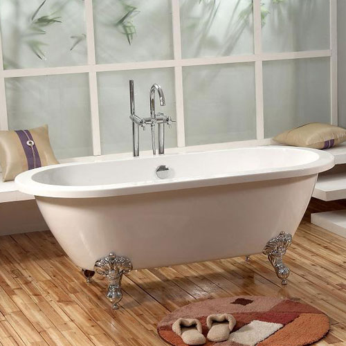 Acrylic Bathtub Clawfoot Bathtub Simple Bathtub