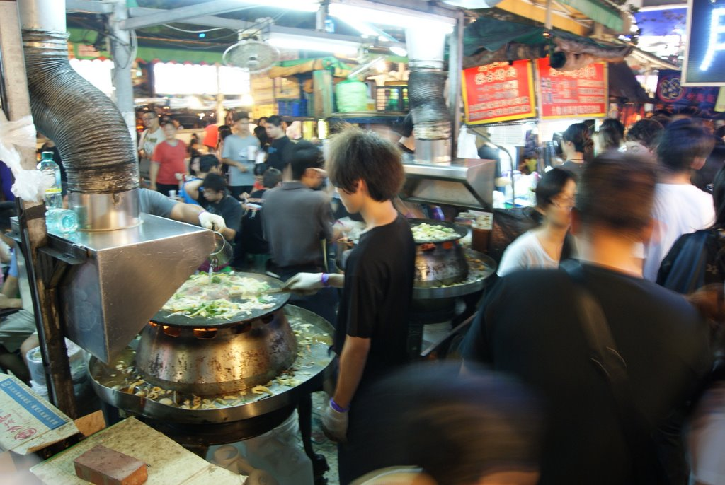 Mongolian grill, in the market