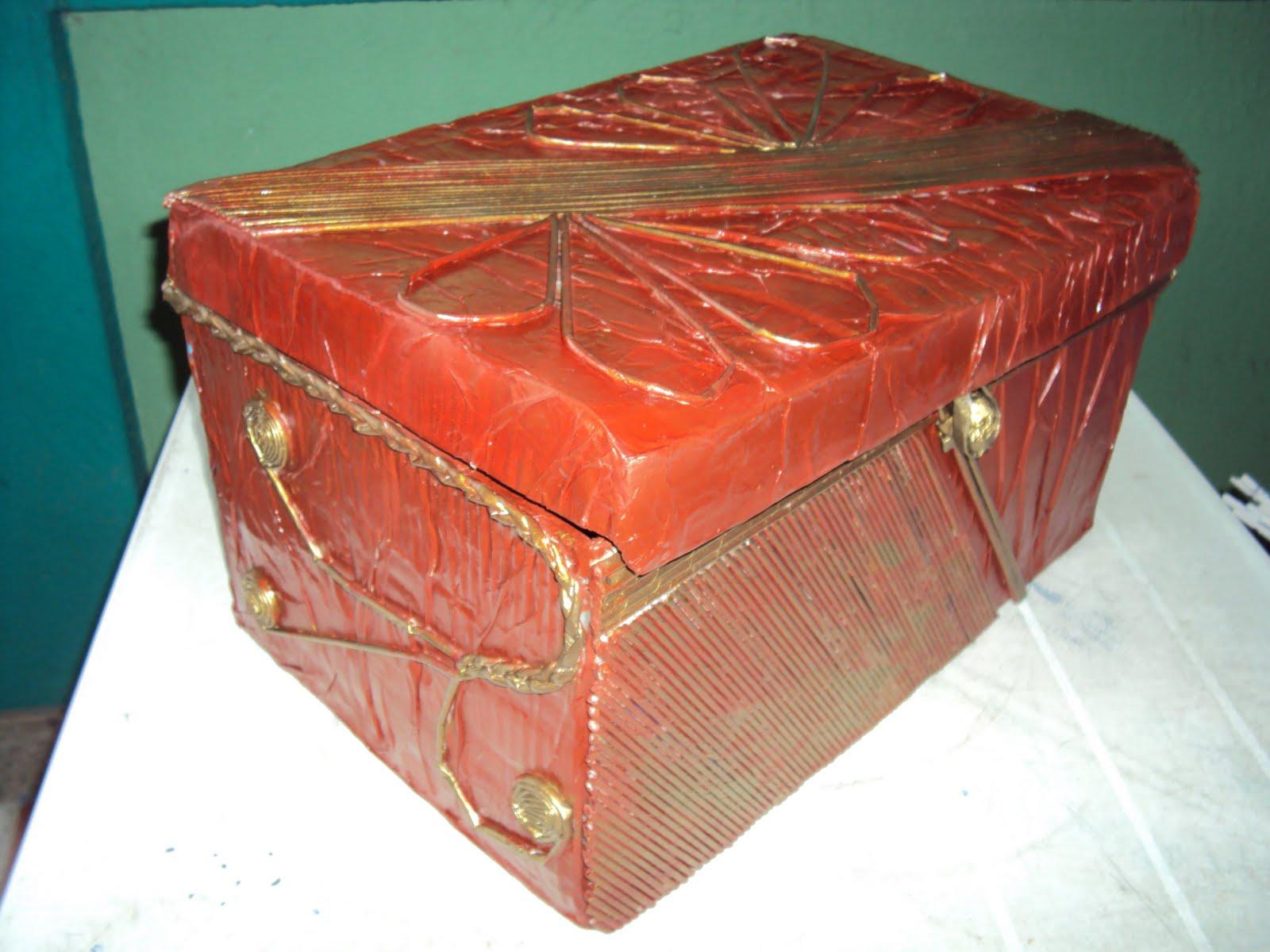Artesanias a base de objeto reciclados baules decorativos - Baules decorativos ...