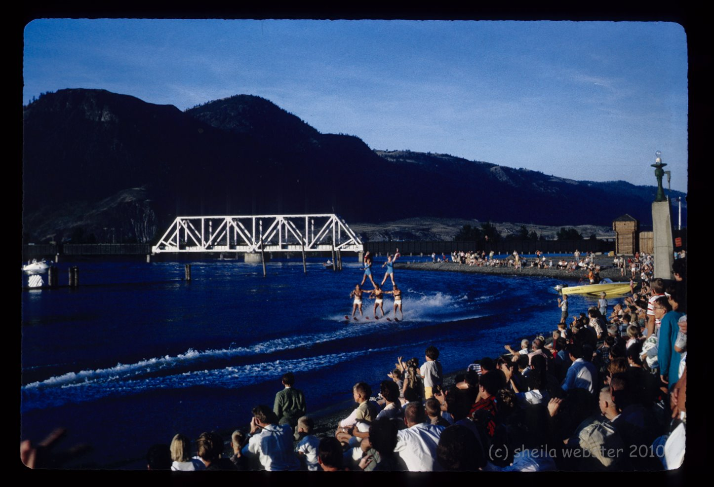 Riverside Park, Waterskiing competition, Kamloops, 1967