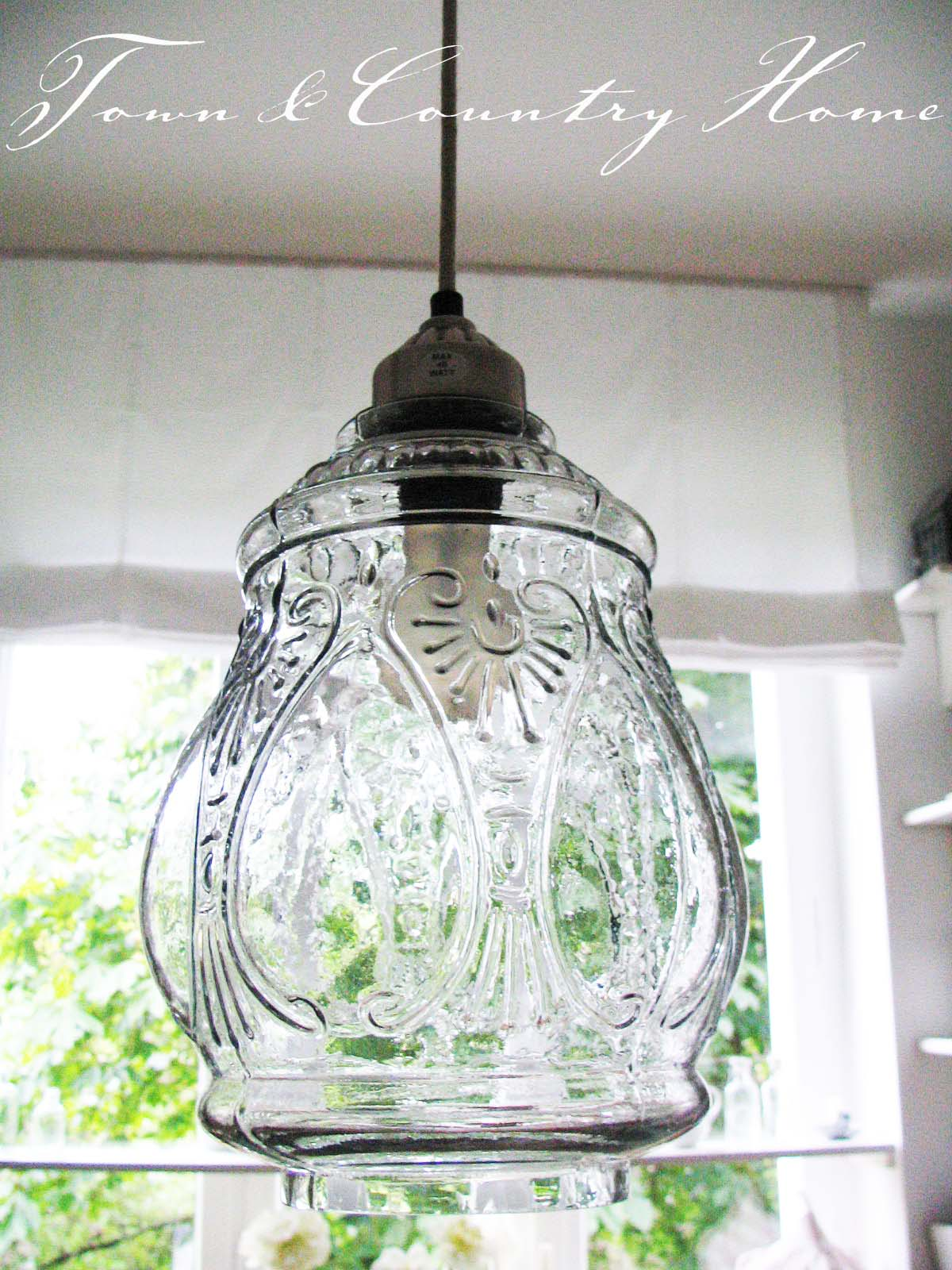 Town country home eine neue lampe for Deckenlampe lang