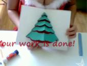 自製聖誕卡-聖誕樹