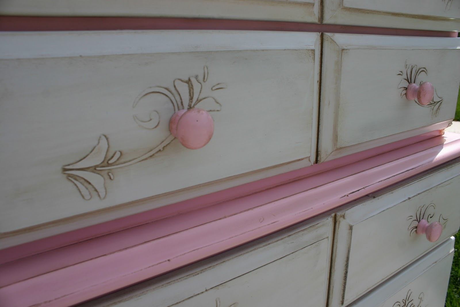Doubletake Decor Baby Pink Girly Dresser