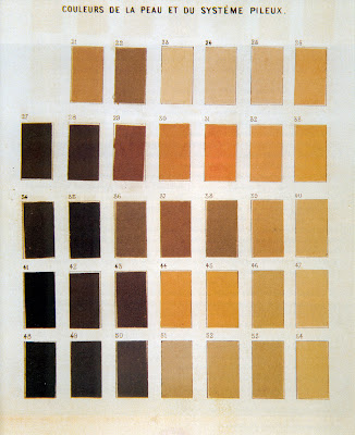 Chaudron Paul Broca Eye And Skin Color Charts