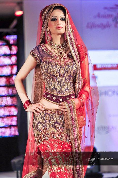 Wedding Dresses Asian Purple : Asian fashion bombay stores catwalk at bridal