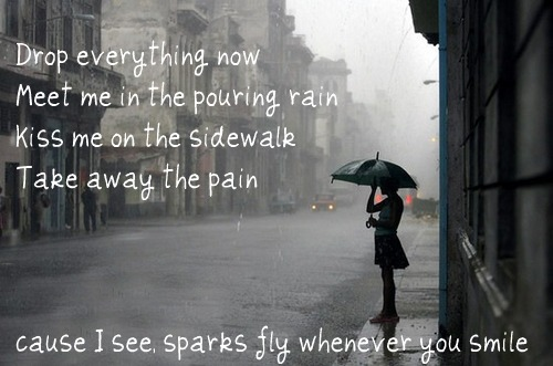 Sparks Fly ~Taylor Swift picture photo weheartit drop everything and meet me in the rain