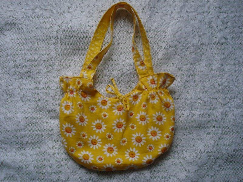 Bolsa Amarela com Margaridas