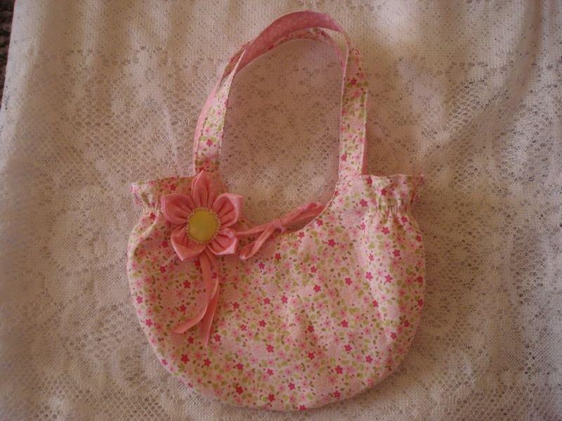 Bolsa Rosa com Rosas