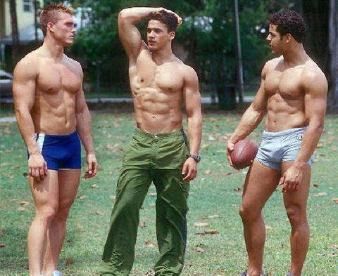 Boys in short shorts