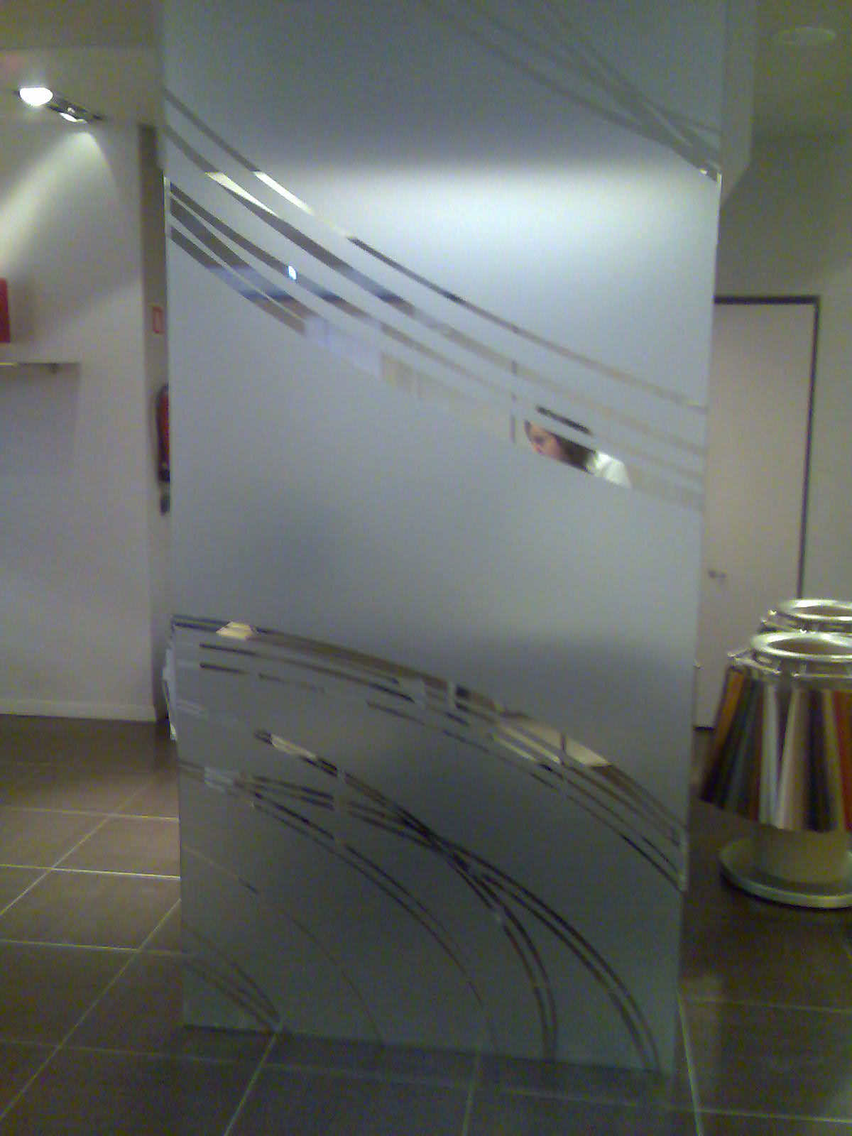 Cristaleria galatzo vidrio templado decorado for Cristales decorados para puertas de salon