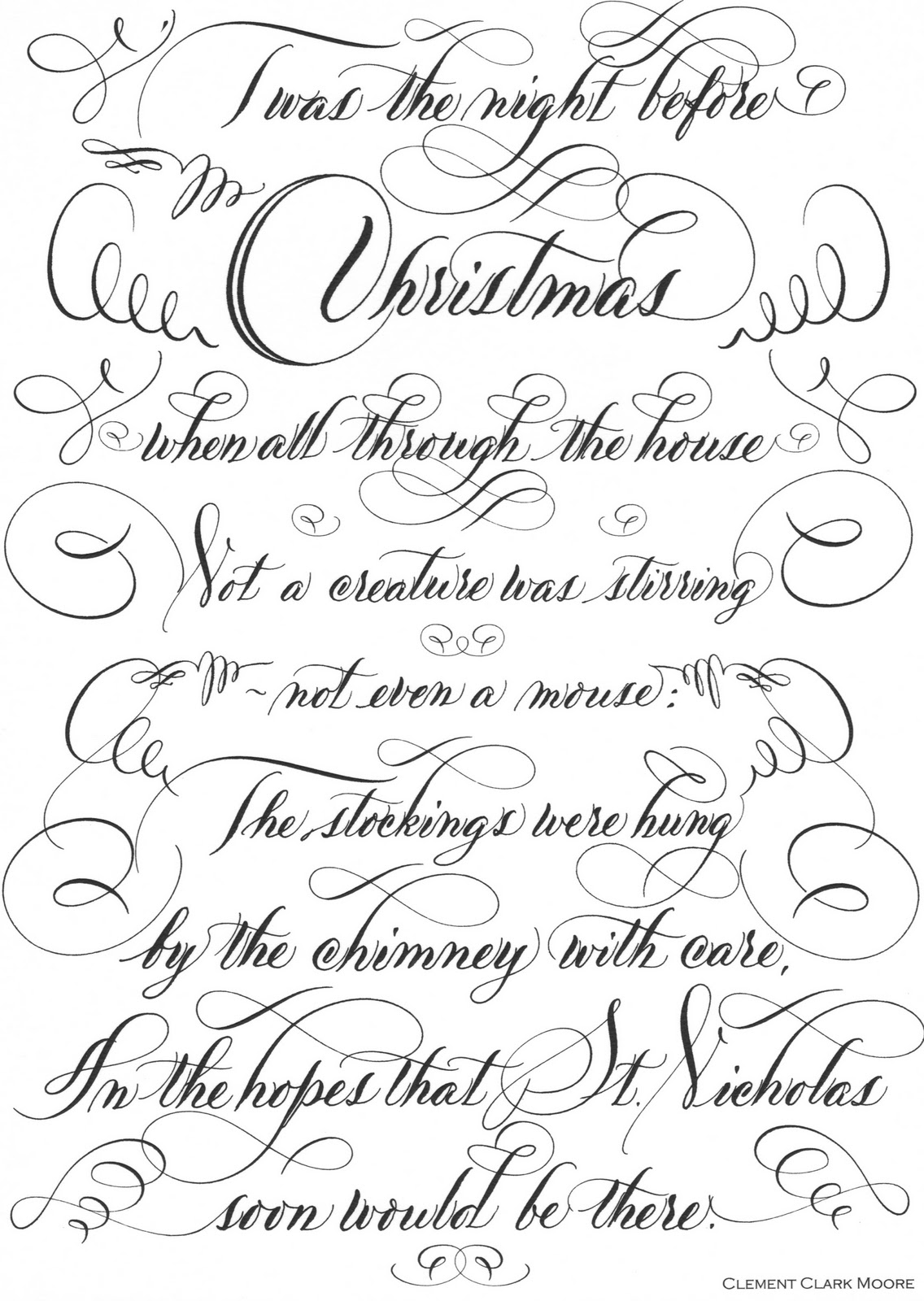 picture relating to Twas the Night Before Christmas Printable Book called Twas the Night time Just before.