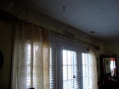 diy burlap curtains with creative rods