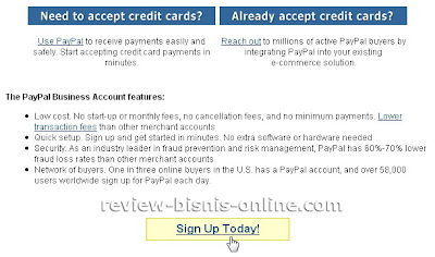 Sign up for PayPal