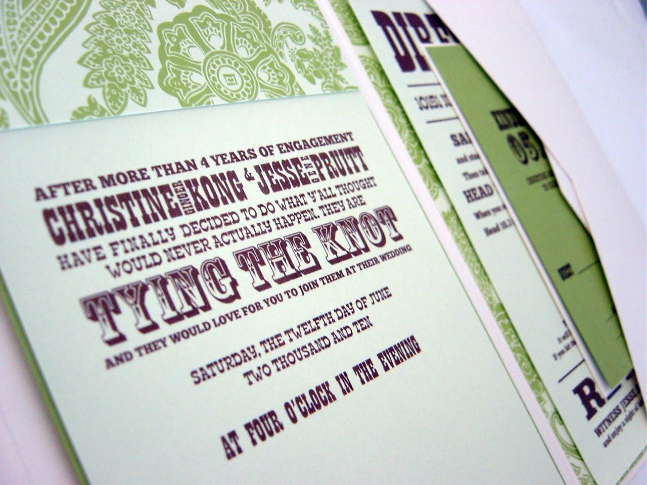 Absolute Edge Design: Wedding Invitations