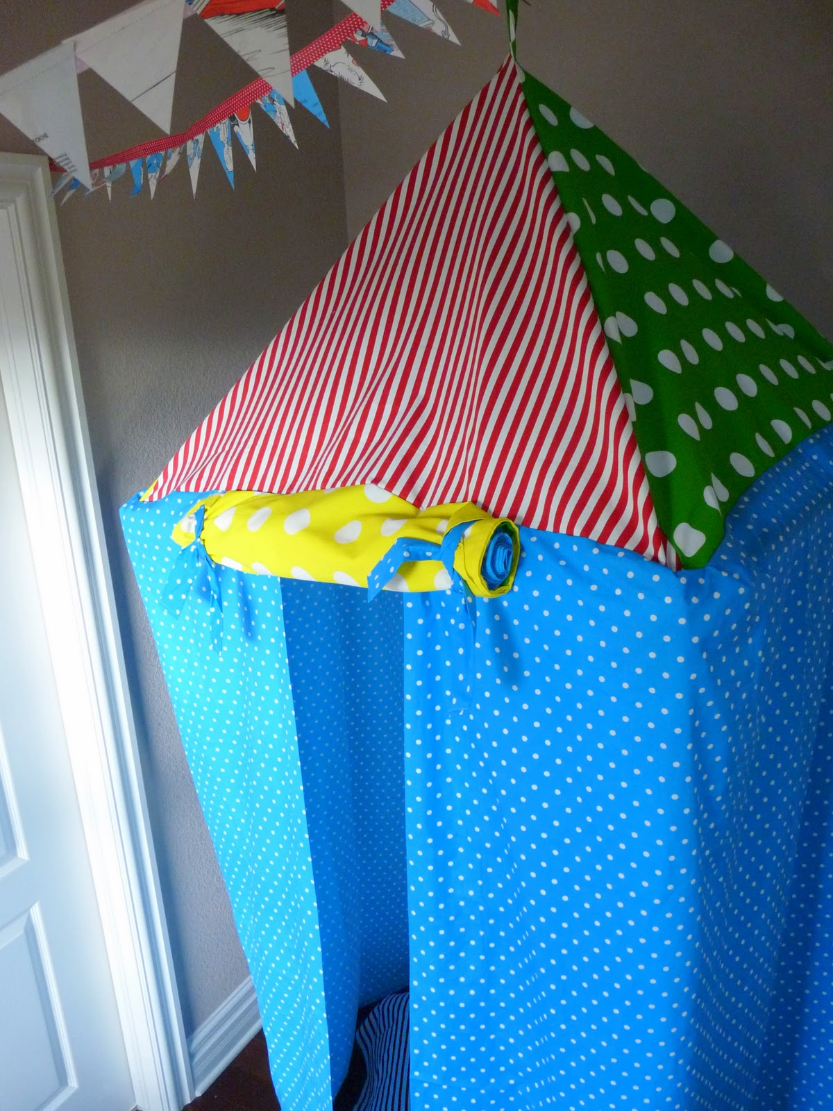 gifts for (little) guys tutorial: hanging tent part 1