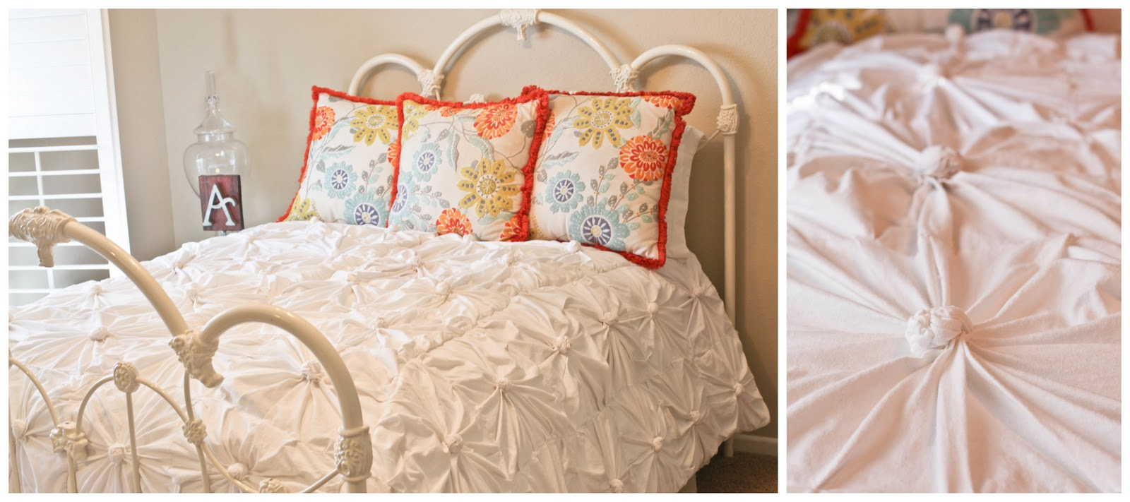 Anthropologie Inspired Knotted Bedding Part 2 Putting It All Together