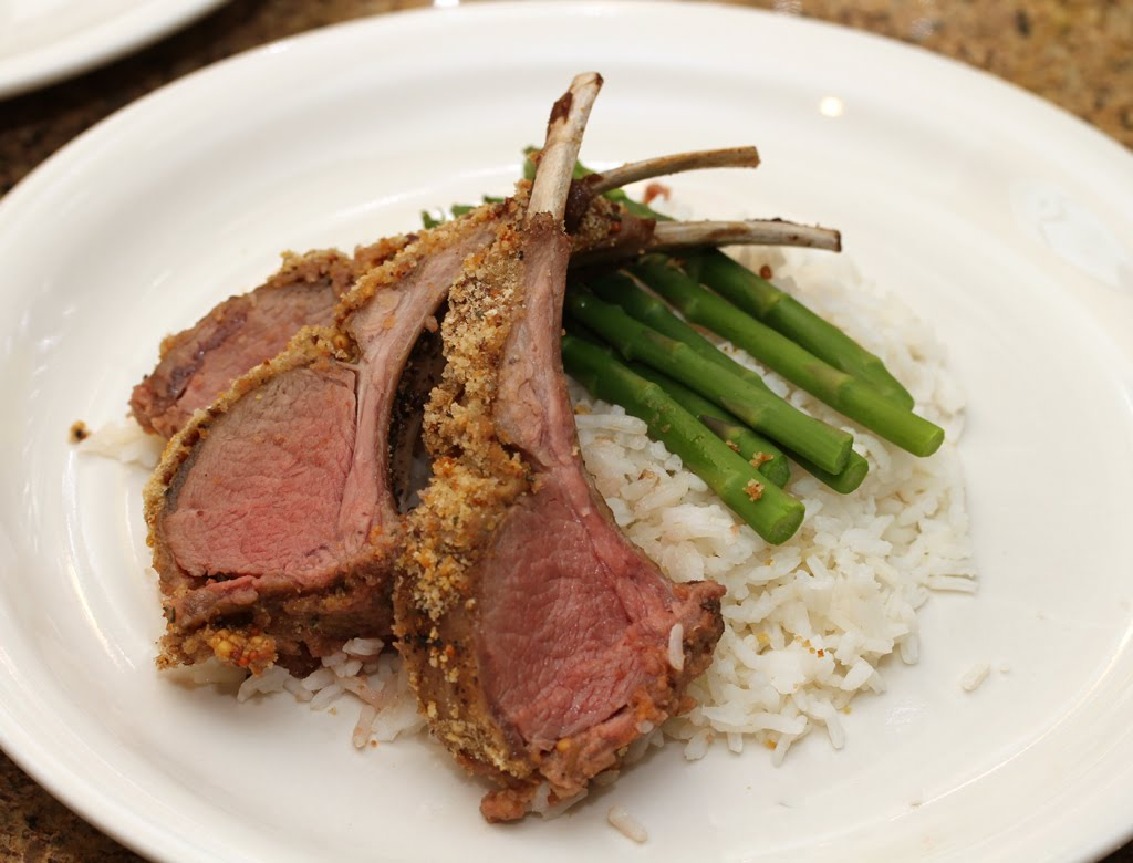 Check The Fridge: Roasted Rack of Lamb