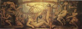 Crono mutila a Urano, Vasari