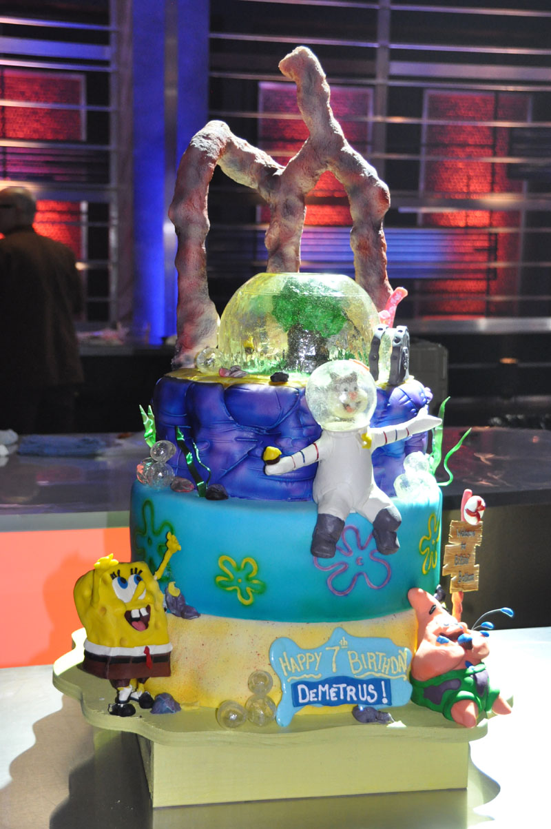 Followup Spongebob Birthday Cakes on Food Network Challenge