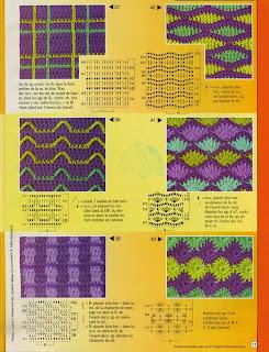 Узоры для вязания спицами с цветными 716