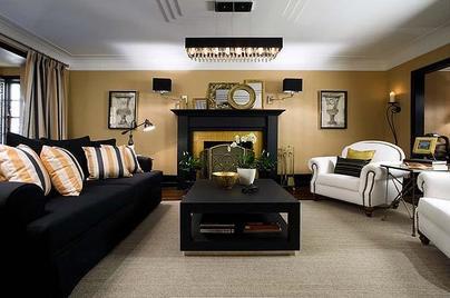 Gold Living Room Walls