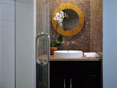 Bathroom Mirror Backsplash