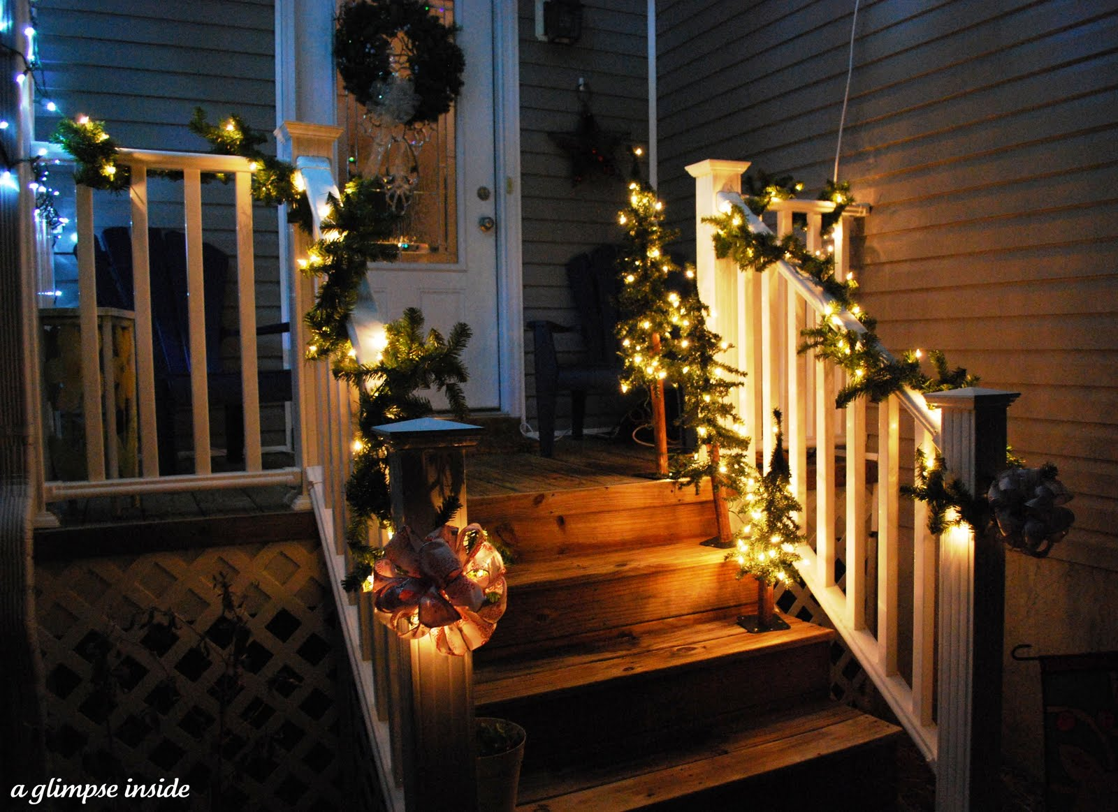 A Glimpse Inside Holiday Open House Outdoor Decor