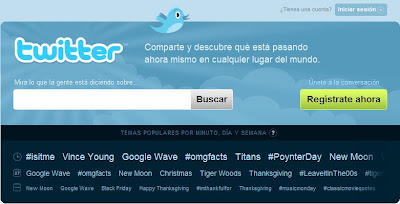 screenshot Twitter Inglés