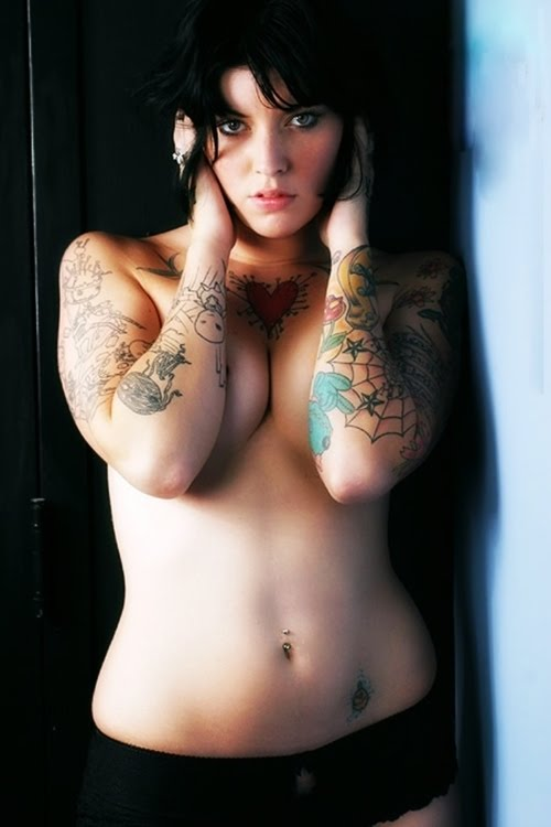 small tattoo lower stomach - sleeve tattoo - heart tattoo