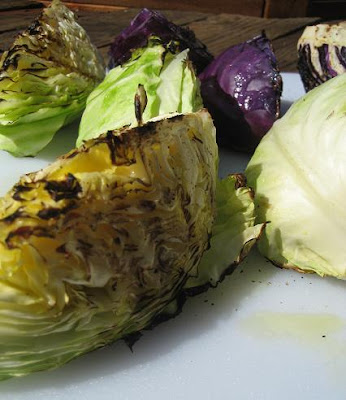Grilled Cabbage Slaw w/ Yogurt Miso Dressing
