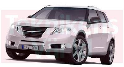 9 4X 101 Saab 9 4X Compact SUV Renderings