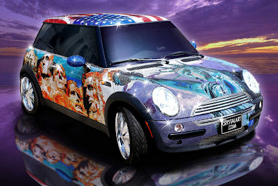 Carscoop MINI crystalcar10 I'll Be Pimped… A MINI Cooper Adorned With a Million Swarovski Crystals!