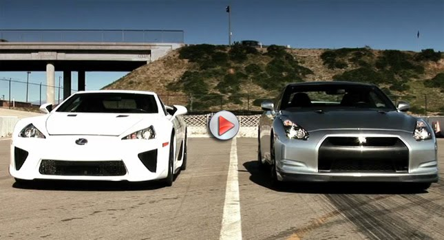 LFA vs GT R 0 Japanese Grudge Match Nissan GT R vs. Lexus LFA Photos