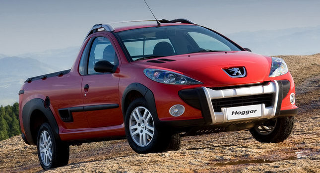 new peugeot hoggar pocket sized pick up truck based on the 207 hatch. Black Bedroom Furniture Sets. Home Design Ideas