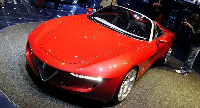 Pininfarina Alfa Romeo Spider 000 Alfa Romeos 2010 2014 Product Plans Include New Giulia and Spider, but no Succesor for Brera. U.S. Sales Start in 2012