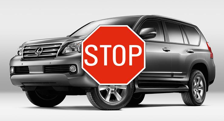 Lexus GX Halt 0 Breaking News: Toyota Temporarily Suspends Sales of 2010 Lexus GX 460