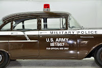 1957 Chevrolet Police Car 27 Copped out: 1957 Chevy Military Police Car for Sale