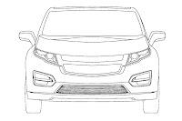 Chevrolet Volt Minivan 2 GM Readying Chevrolet Volt esque Extended Range Electric Minivan? Official Patent Designs