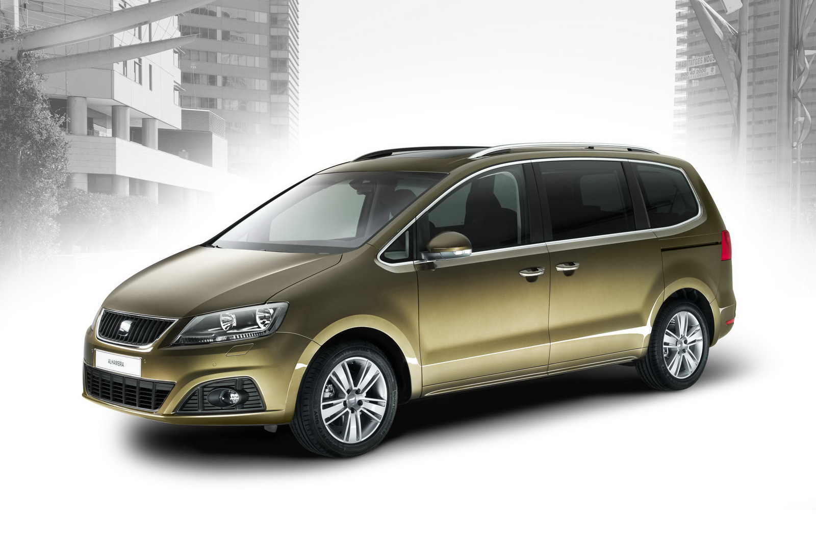 new seat alhambra mpv vw sharan 39 s twin brother officially. Black Bedroom Furniture Sets. Home Design Ideas