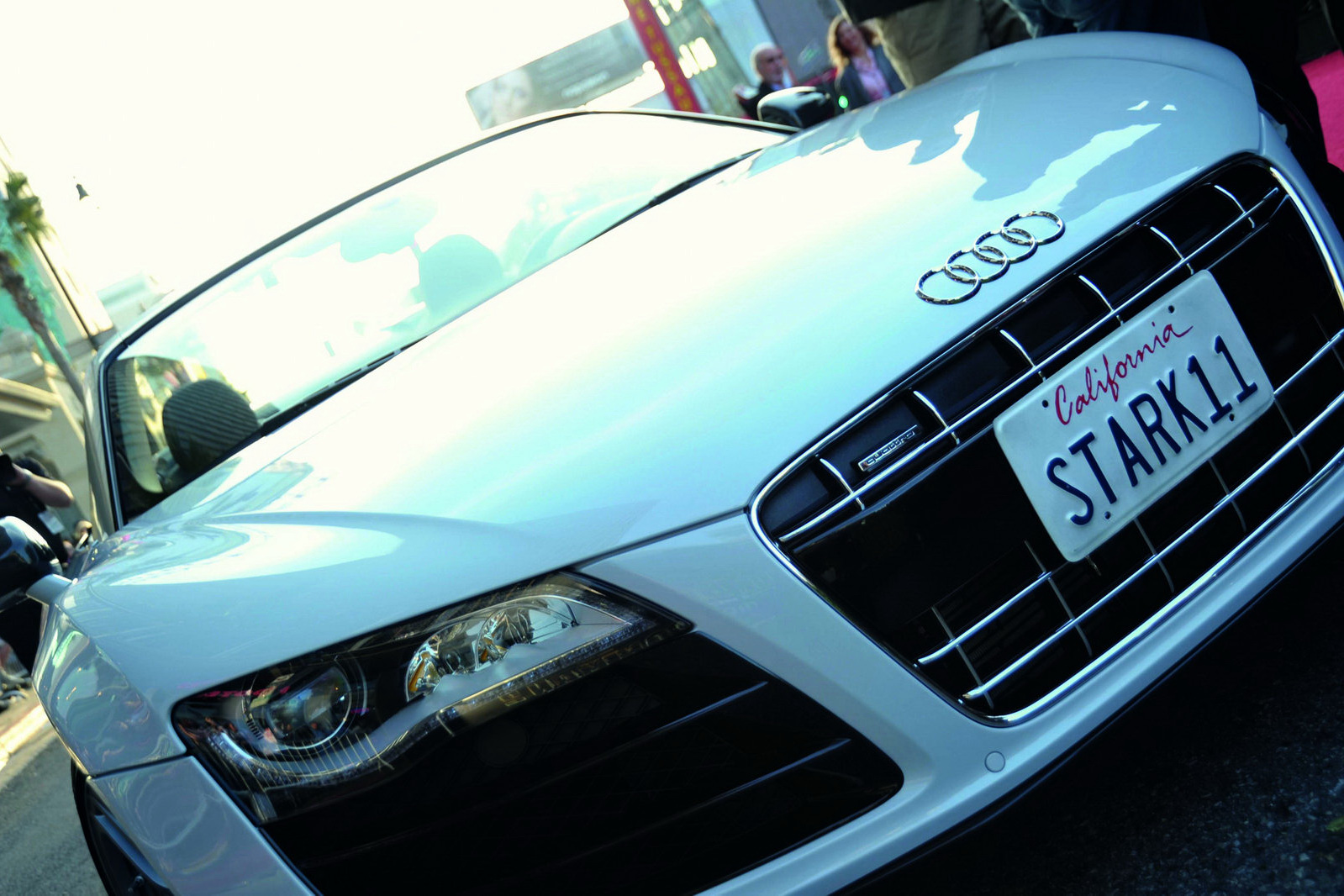 Audi Releases Video And Photos Of R8 Spyder From Iron Man 2 Photos Machinespider Com