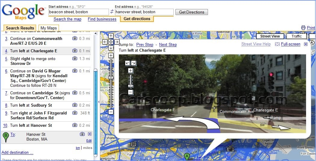 Google Maps Directions Gets Street View Imagery