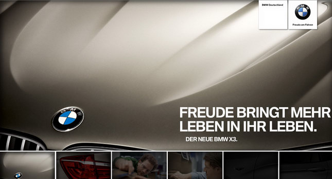 2011 BMW X3 SUV Teasers 001 2011 BMW X3 SUV Teased on Official Site Photos