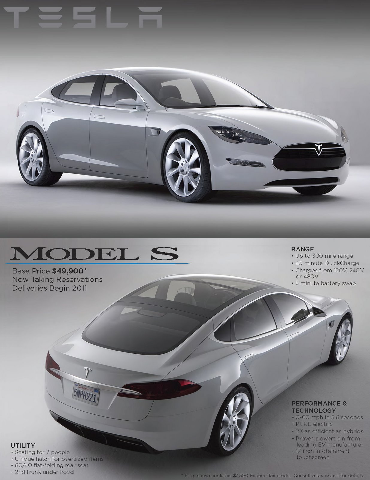 Car Reviews Tesla Model S Electric Sport Sedan High Res Gallery And Official Details