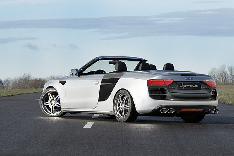 Hofele designs r8 inspired aero kits for audi a5 coupe cabrio hofele design rounds off the package with a boot lid spoiler a5 coupe only air intakes for the front fenders side skirts and a wide choice of alloy sciox Choice Image