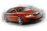 Skoda Superb Fastback 3 New Skoda Superb Fastback Design Concept Photos Videos